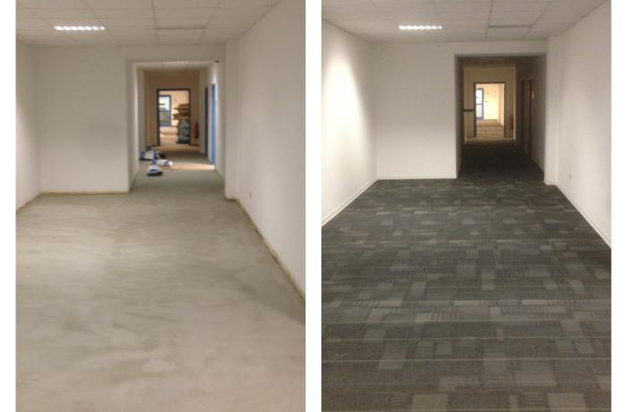 2500 qm Teppichfliesen Bürogebäude Magdeburg